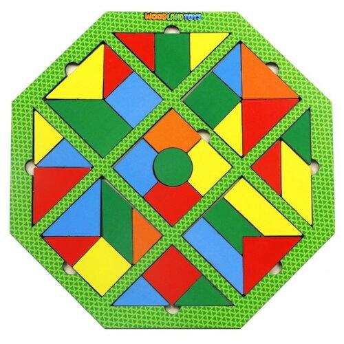 Купить Головоломка Woodland Калейдоскоп. Полянка (83403) зелeный, Головоломки