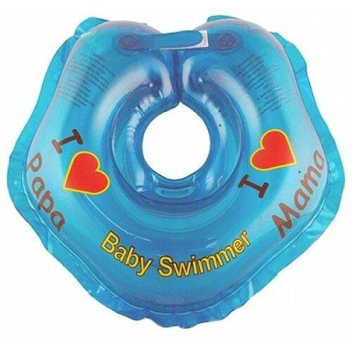 Купить Круг на шею Baby Swimmer 0m+ (3-12 кг) Я люблю голубой, Круги на шею