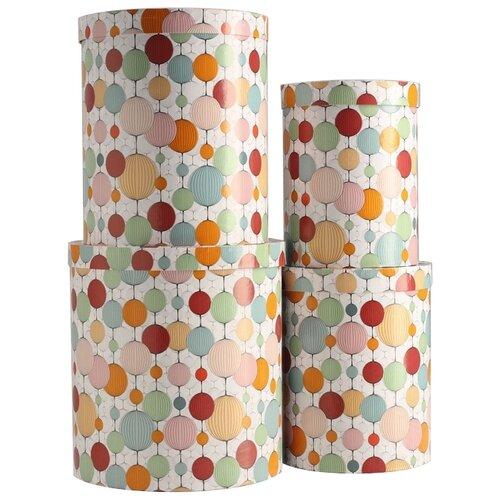 Набор подарочных коробок Мишель Фокс Бумажные фонарики №84, 4 шт разноцветный