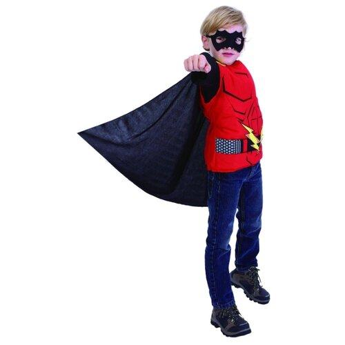 Костюм SNOWMEN Человек-огонь Е94758, красный/черный, размер 11-14 лет костюм snowmen человек огонь е94758 красный черный размер 4 6 лет