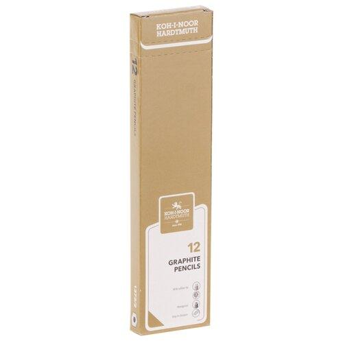 Купить KOH-I-NOOR Набор чернографитных карандашей с ластиком Oriental 12 шт. (1372002012KSRU), Карандаши