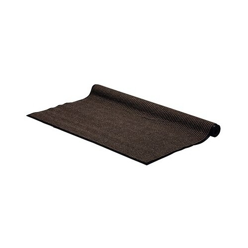 Придверный коврик VORTEX Влаговпитывающая ребристая, размер: 1.5х1.2 м, коричневый