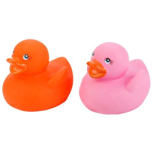 Купить Набор для ванной Играем вместе Утка - термометр (LXT09) розовый/оранжевый, Игрушки для ванной