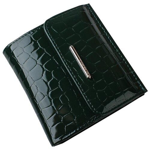 Кошелек Dimanche 30095, натуральная кожа зеленый сумка поясная dimanche натуральная кожа металлик