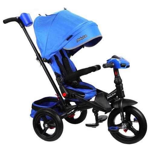 Купить Трехколесный велосипед Moby Kids New Leader 360° 12x10 AIR Car черный/синий, Трехколесные велосипеды