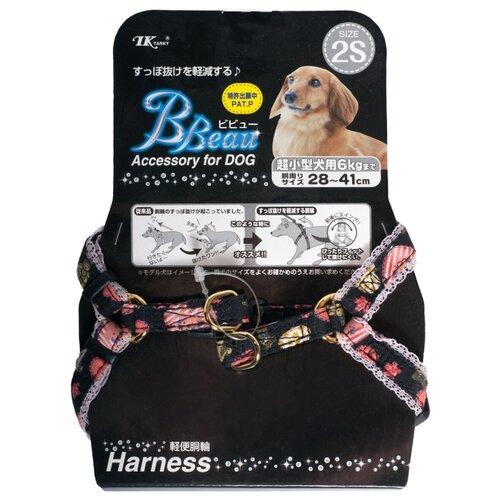 Шлейка Japan Premium Pet БУРЖУА для собак до 6 кг, размер XS, черная