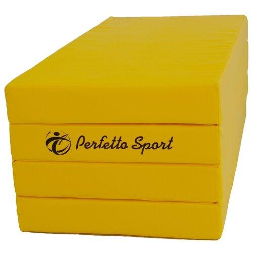 Спортивный мат 2000х1000х100 мм Perfetto Sport № 5 желтый