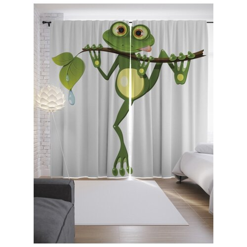 Портьеры JoyArty Древняя лягушка на ленте 265 см (p-15264)