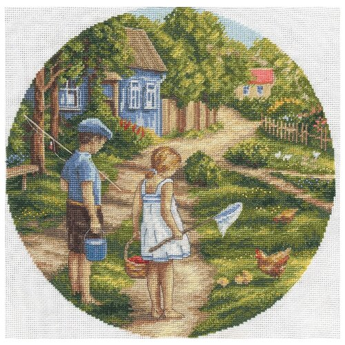 PANNA Набор для вышивания Дорогой детства 26.5 x 26.5 см (D-1570)
