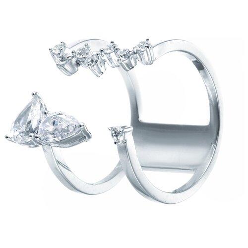 Фото - ELEMENT47 Широкое ювелирное кольцо из серебра 925 пробы с кубическим цирконием F-643R_001_WG, размер 18 element47 широкое ювелирное кольцо из серебра 925 пробы с кубическим цирконием 05s2azr104804curi 001 wg размер 18