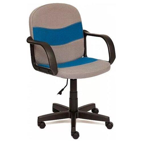 Фото - Компьютерное кресло TetChair Багги офисное, обивка: текстиль, цвет: серый/синий компьютерное кресло tetchair багги обивка текстиль искусственная кожа цвет черный серый