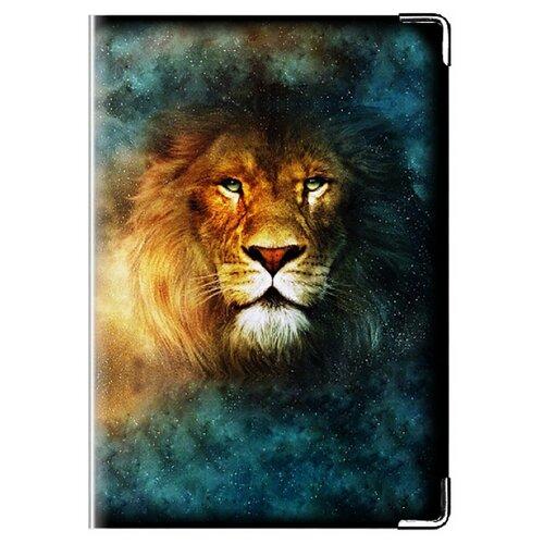 Обложка для паспорта MADAPRINT Лев 100% натуральная овечья кожа