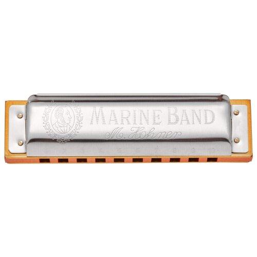 Фото - Губная гармошка Hohner Marine Band 1896/20 nat minor (M1896556X) E, серебристый губная гармошка hohner marine band thunderbird m201115x e low бежевый серебристый