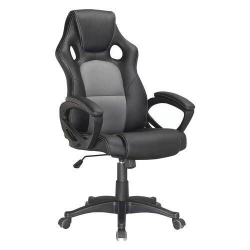 Компьютерное кресло Brabix Rider Plus EX-544 игровое, обивка: искусственная кожа, цвет: черный/серый компьютерное кресло brabix nitro gm 001 игровое обивка искусственная кожа цвет черный