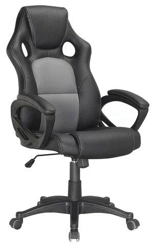 Купить Компьютерное кресло Brabix Rider Plus EX-544 игровое, обивка: искусственная кожа, цвет: черный/серый по низкой цене с доставкой из Яндекс.Маркета (бывший Беру)