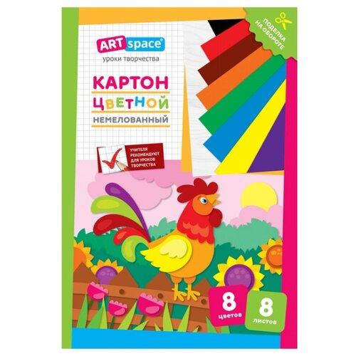 Цветной картон Петушок ArtSpace, А4, 8 л., 8 цв. action картон action бабочки цветной а4 8 цв 8 л