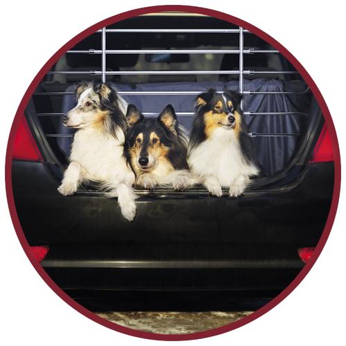 Барьер защитный автомобильный для собак 85-140х78х105см металл