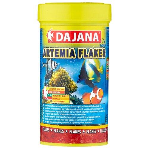 Сухой корм для рыб Dajana Pet Artemia flakes 250 мл сухой корм для рыб dajana pet malawi flakes 1000 мл 200 г