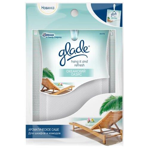саше glade океанский оазис 8г ароматическое д шкафов и комодов Glade Саше для шкафов и комодов Океанский оазис, 8г 1 шт.