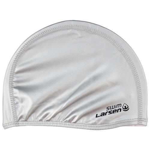Шапочка для плавания Larsen 3059 серебро шапочка larsen ls78 pink neon