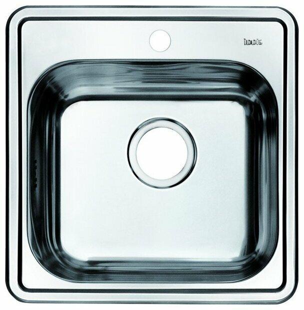 Врезная кухонная мойка IDDIS Strit STR48S0i77 48.5х48.5см нержавеющая сталь