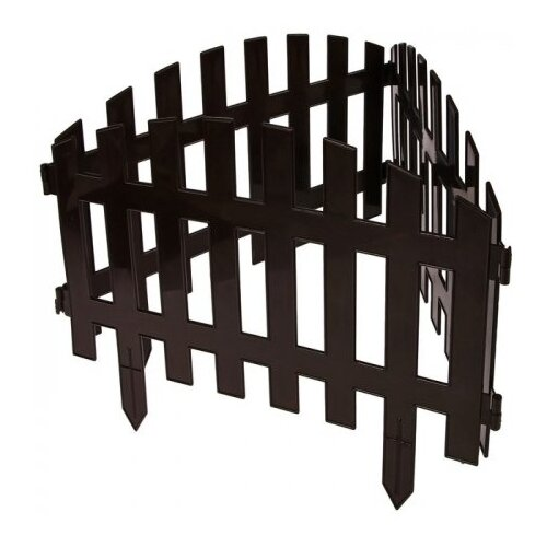 Забор декоративный Гарденпласт RENESSANS №2, шоколад, 3.1 х 0.35 м