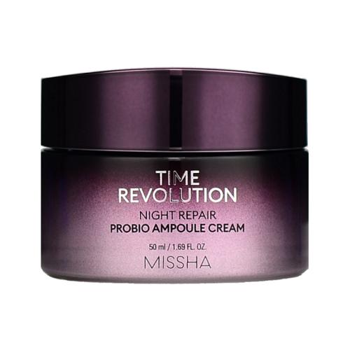 Фото - Missha Time Revolution Night Repair Probio Ampoule Cream Восстанавливающий ночной крем для лица, 50 мл missha time revolution night repair probio ampoule восстанавливающая ночная ампула для лица 50 мл