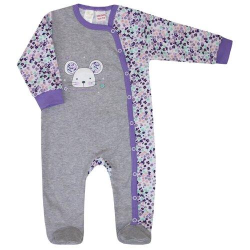 Комбинезон KotMarKot размер 68, фиолетовый/серый свитшот kotmarkot размер 68 серый фиолетовый