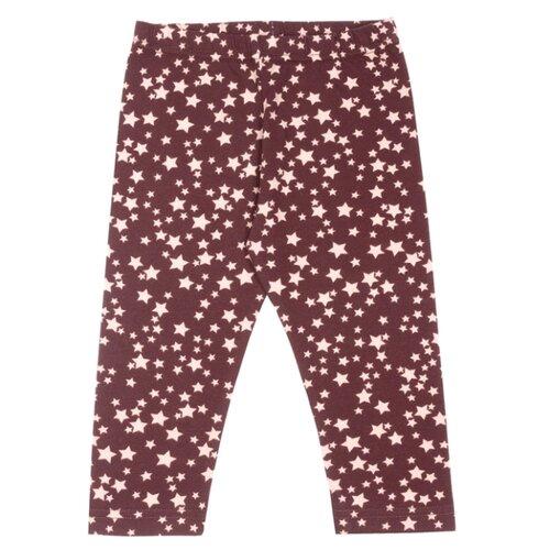 Бриджи Апрель размер 116-60, бежевые звезды на коричневом