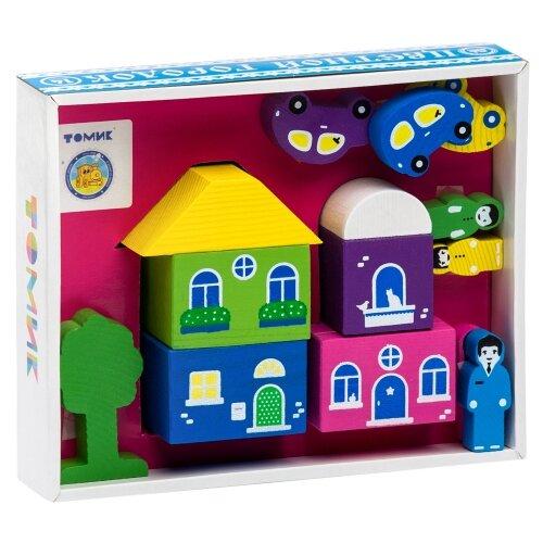 Кубики Томик Цветной городок розовый 8688-5 кубики пазлы томик транспорт
