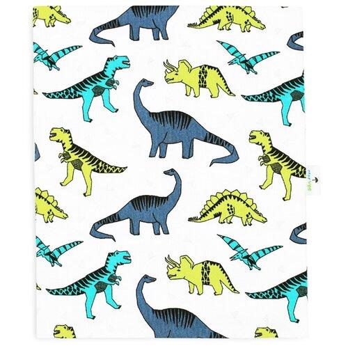 Трикотажная пеленка GlorYes! Дино, 103х86 см gloryes пеленка кокон gloryes 0 3 5 мес зайки и коты