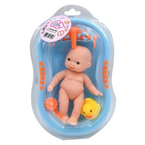 Купить Пупс ABtoys Мой малыш в ванночке, PT-01097, Куклы и пупсы