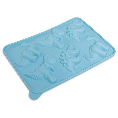 Форма для шоколада DOSH | HOME Pavo Динозавры 300262, 6 ячеек голубой
