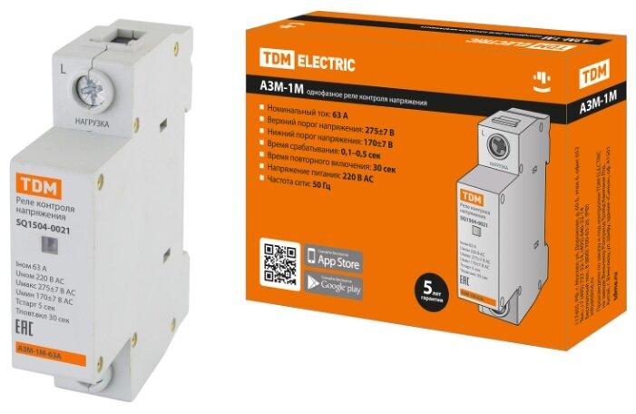 Купить АЗМ-1М 63А-220В TDM Electric (SQ1504-0021) по низкой цене с доставкой из Яндекс.Маркета (бывший Беру)