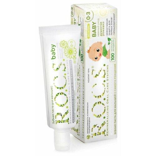 Купить Зубная паста R.O.C.S. Baby Душистая ромашка 0-3 лет, 45 г, Гигиена полости рта