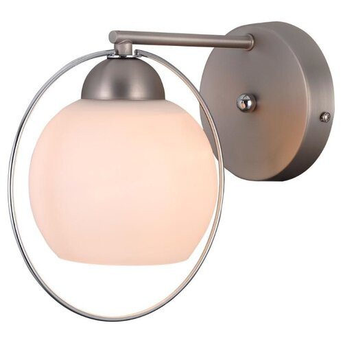 Настенный светильник Natali Kovaltseva Sphere II 81051-1W Satin Nickel, 40 Вт natali kovaltseva бра natali kovaltseva alps 11368 1w wenge венге