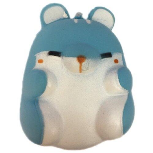 Игрушка-мялка 1 TOY Хомячок (T14689) синий/белый