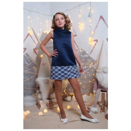 Купить Платье Ladetto размер 40-158, темно-синий, Платья и сарафаны