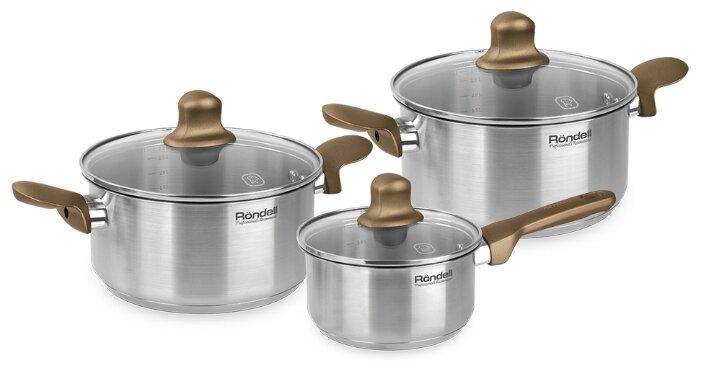 Набор посуды Rondell Impressia Bronze RDS-1286 6 пр.