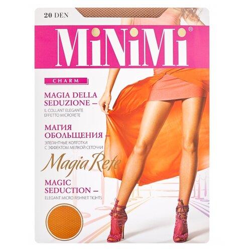 Колготки MiNiMi Magia Rete 20 den, размер 3-M, caramello (бежевый) колготки minimi slim control 20 den размер 3 m caramello бежевый