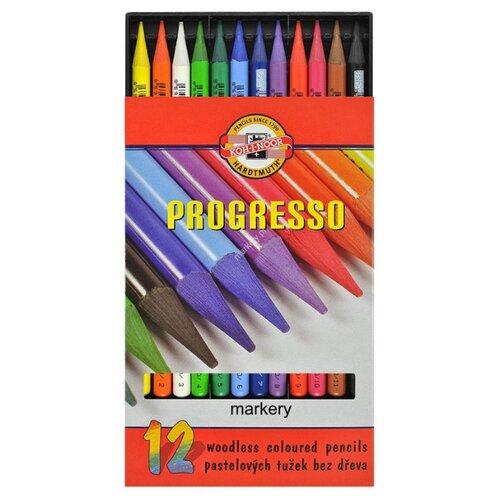 Купить KOH-I-NOOR Карандаши цветные Progresso, 12 цветов (8756012007PZ), Цветные карандаши