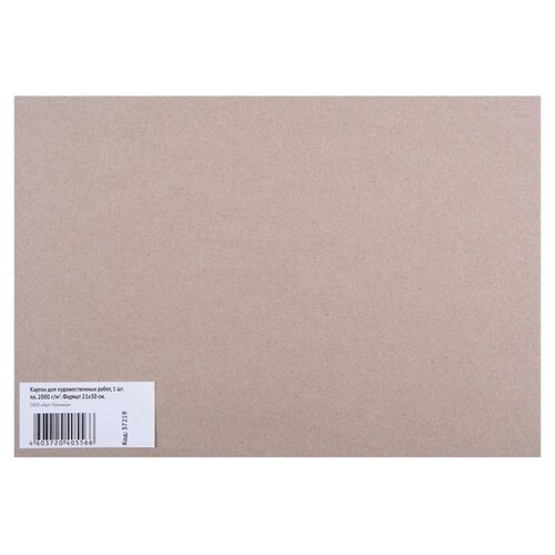Картон для художественных работ 210х300 2000г/м Арт-Техника 57219 3 шт.
