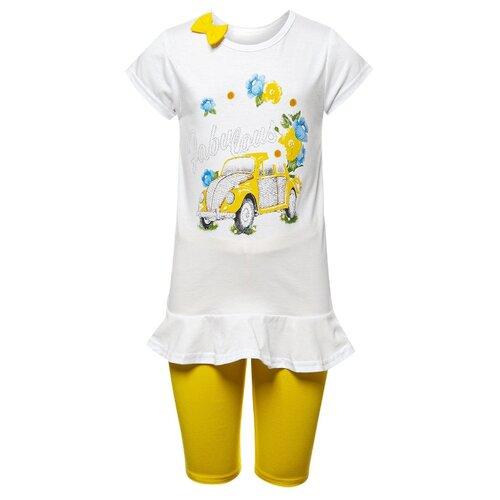 Купить Комплект одежды M&D размер 98, белый/желтый, Комплекты и форма