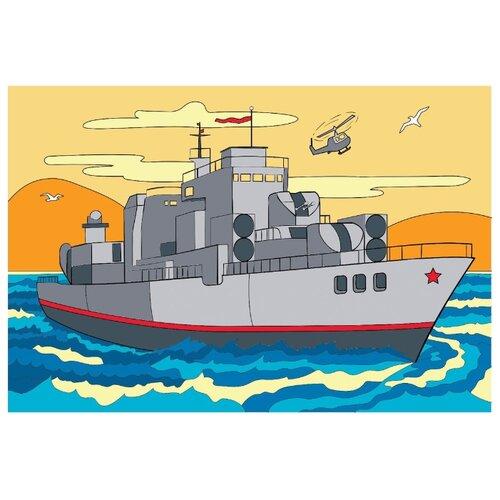 Школа талантов Картина по номерам Военный корабль 20х30 см (4971852)