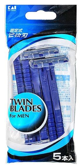 Бритвенный станок Kai Twin Blades, одноразовый