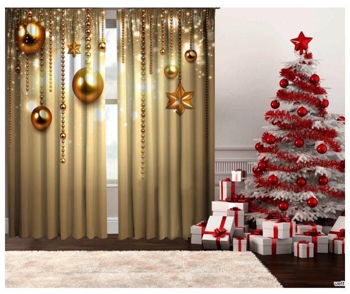 Купить Фотошторы Тамитекс Бусы на ленте 267 см бежевый/золотой по низкой цене с доставкой из Яндекс.Маркета