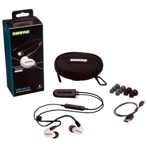 Беспроводные наушники Shure SE215 Wireless (BT2) white беспроводные наушники shure se215 cl bt2 efs