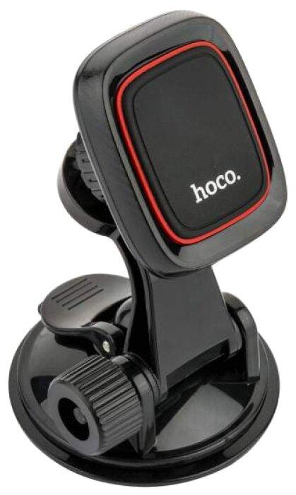 Магнитный держатель Hoco CA28 Happy journey черный фото 1