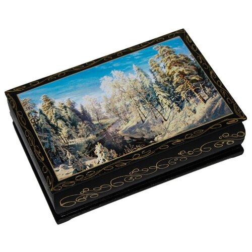 Набор конфет Кремлина Чернослив шоколадный с миндалем в сувенирной шкатулке 300 г природа зима
