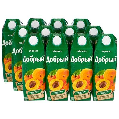 Нектар Добрый Абрикос, 1 л, 12 шт.